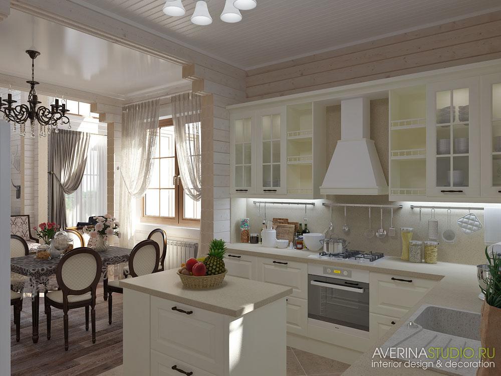 дизайн интерьера дом из клееного бруса